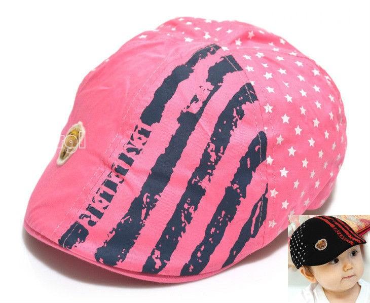 New Fashion Printed Boy Baseball Beret Caps