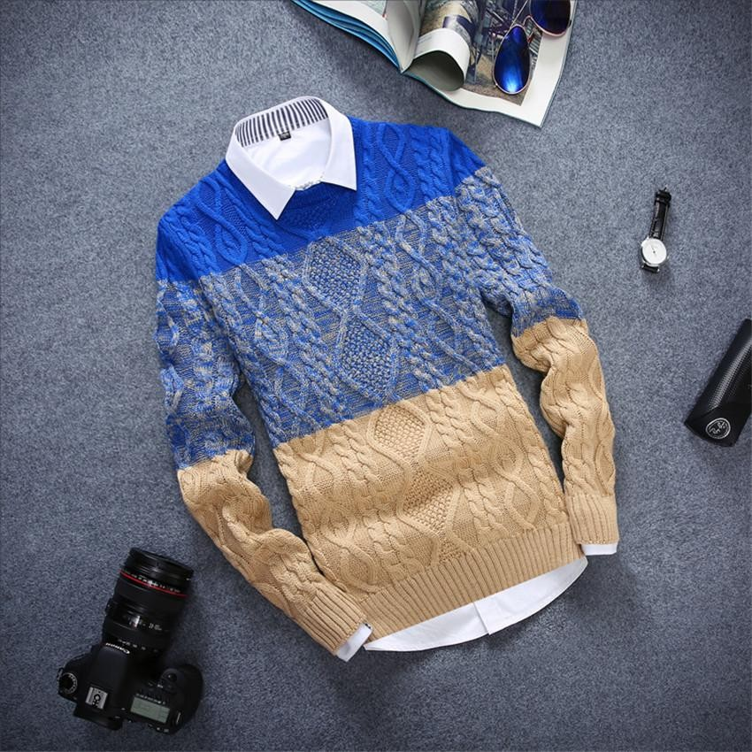 New Fashion Slim Fit O Neck Mens Pullovers