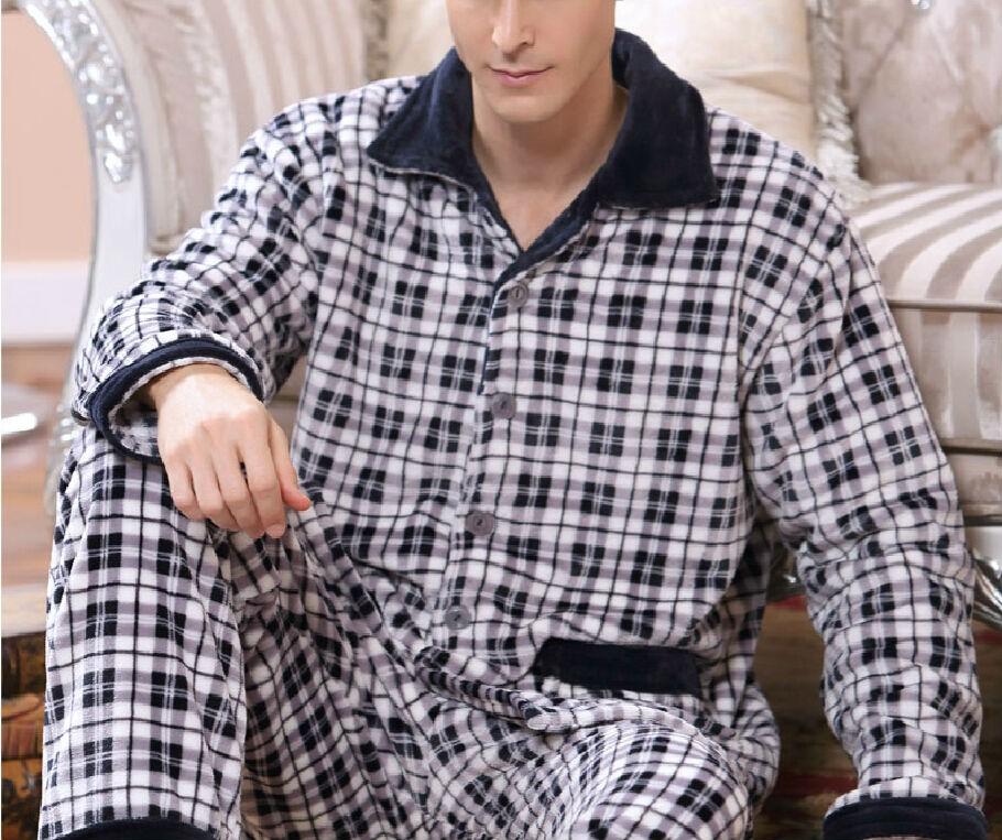 New Men Fashion Pajamas Nightwear Sets