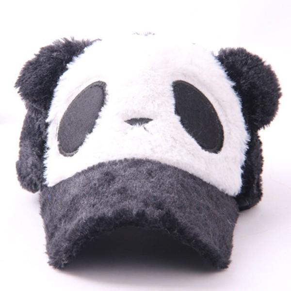 New Plush Panda Pattern Boys And Girls Caps