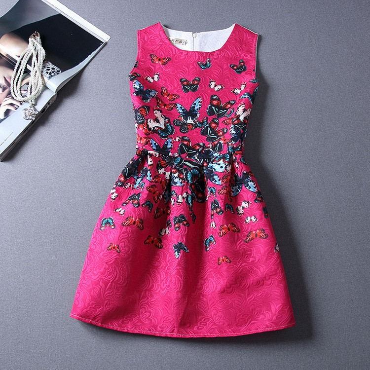 New Printed Designer Sleeveless Girl Dresses
