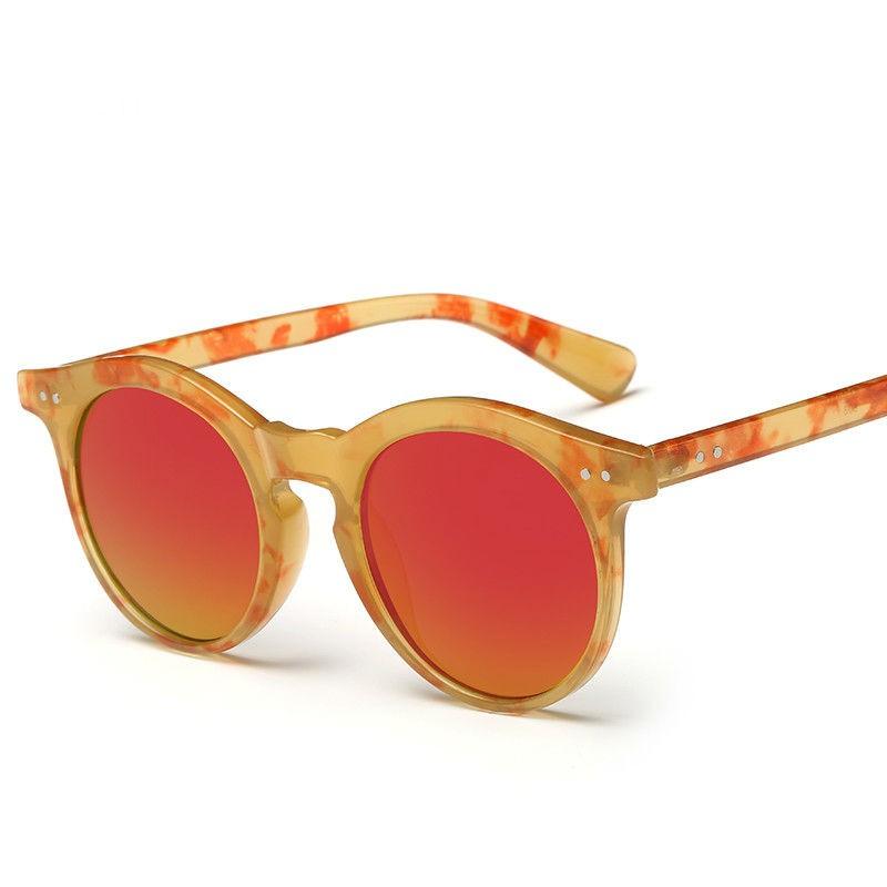 New Women Floral Designer Round Sunglasses