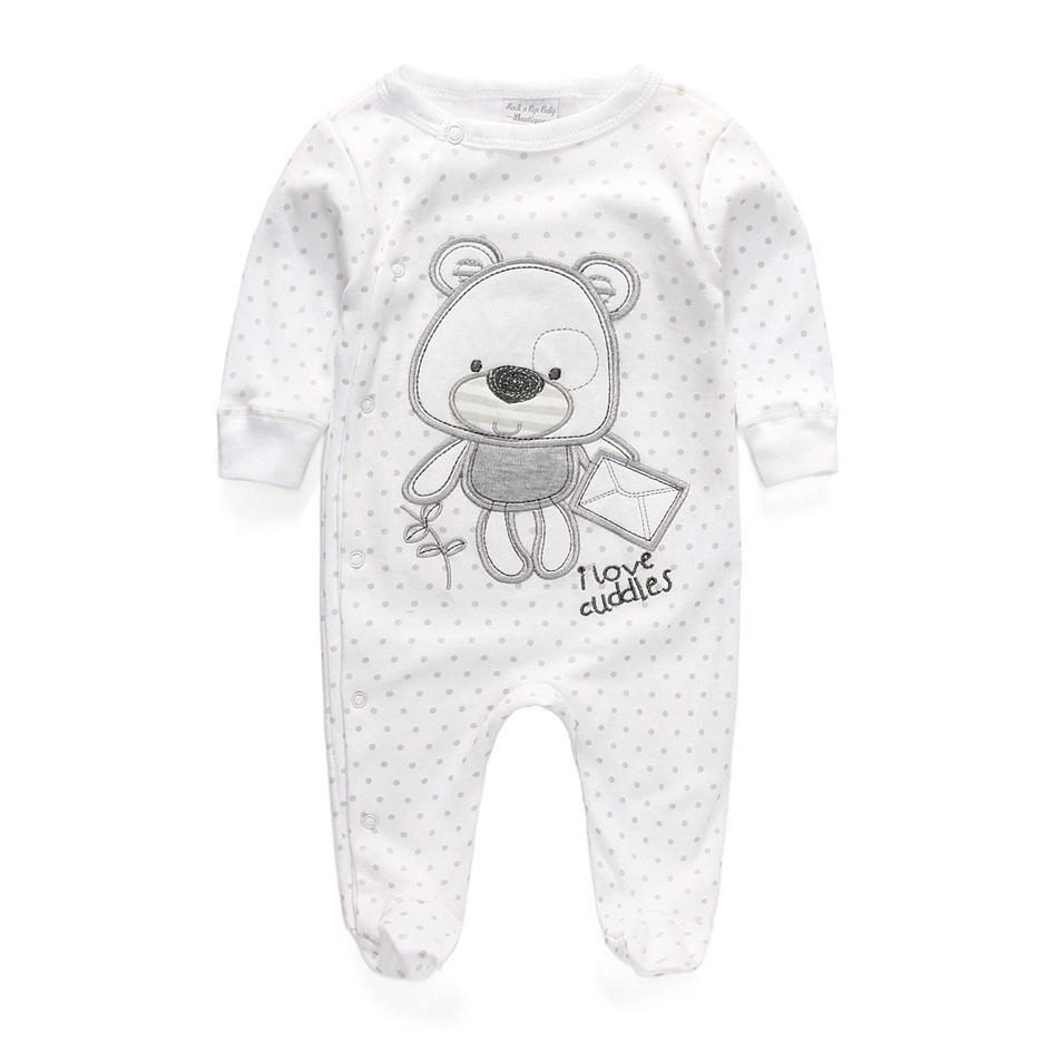 Newborn Baby Boy Cotton Long Sleeve Rompers