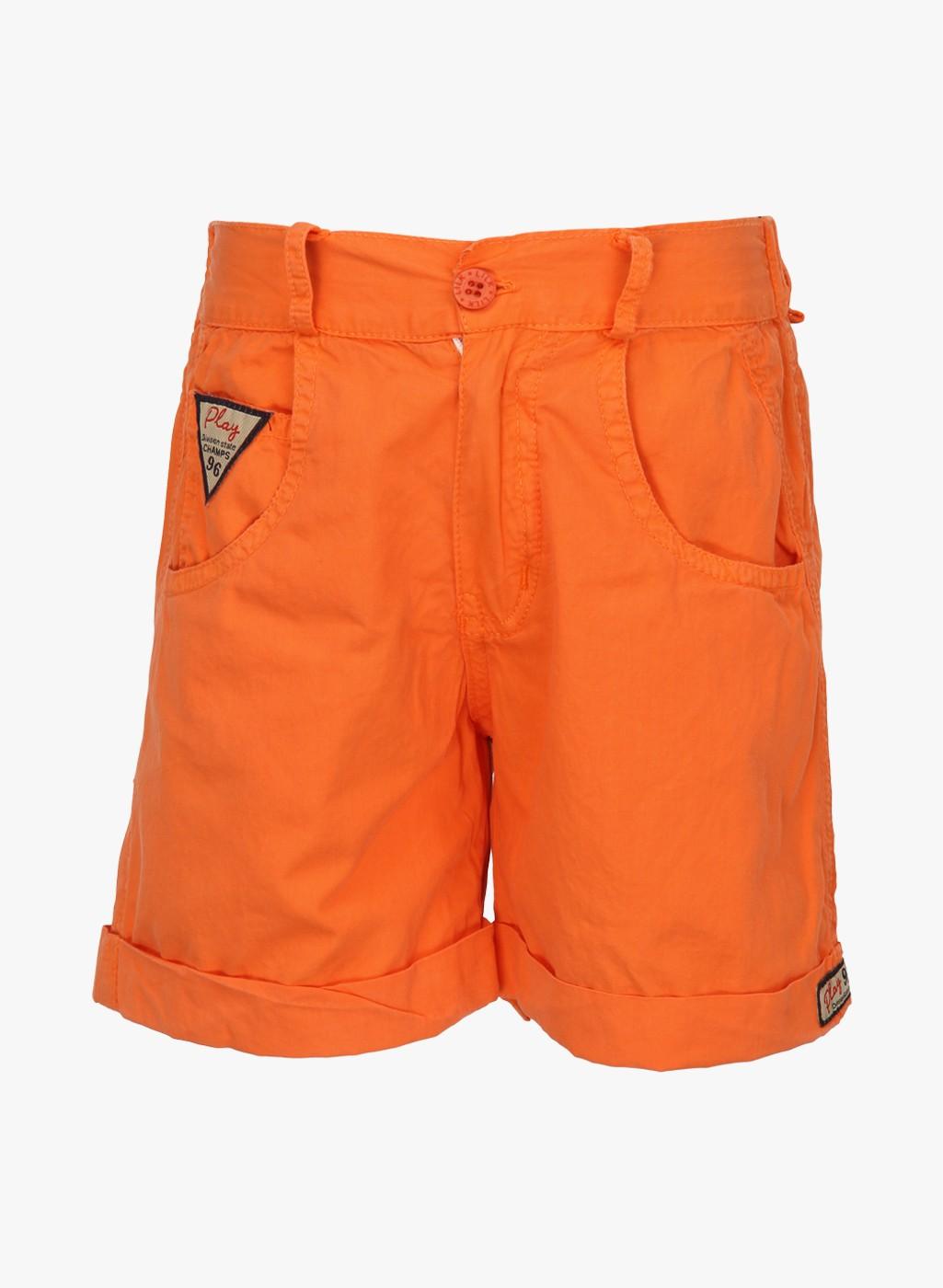 Orange Hip Length Cotton Viscose Short