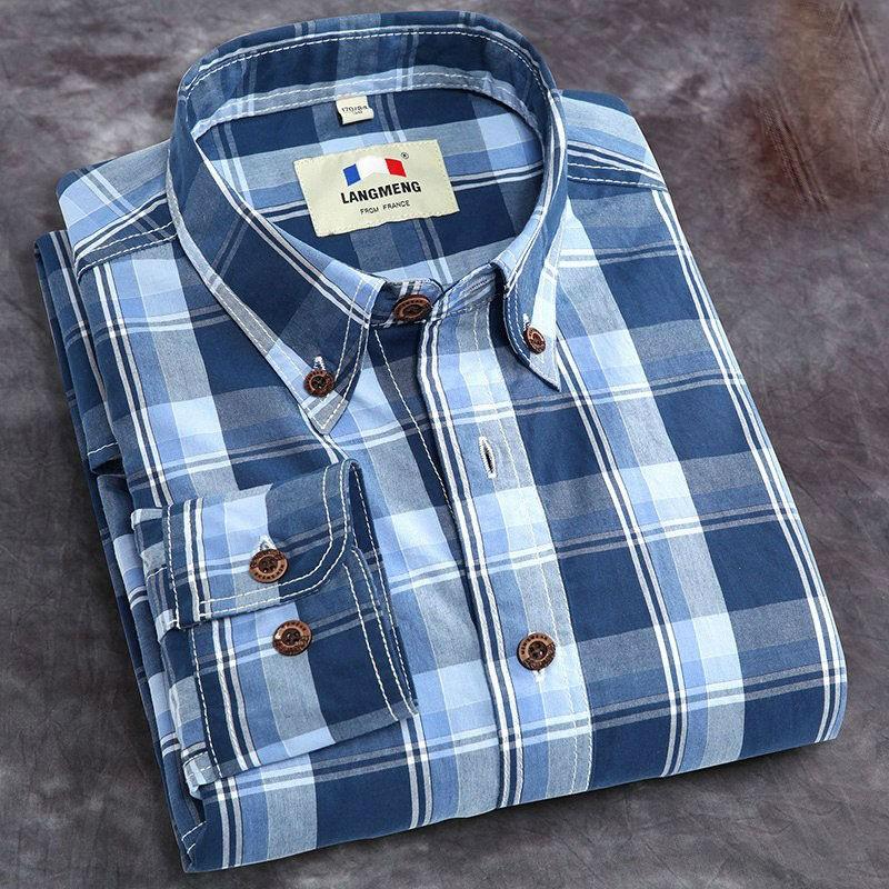 Plus Size Cotton Mens Casual Shirts1
