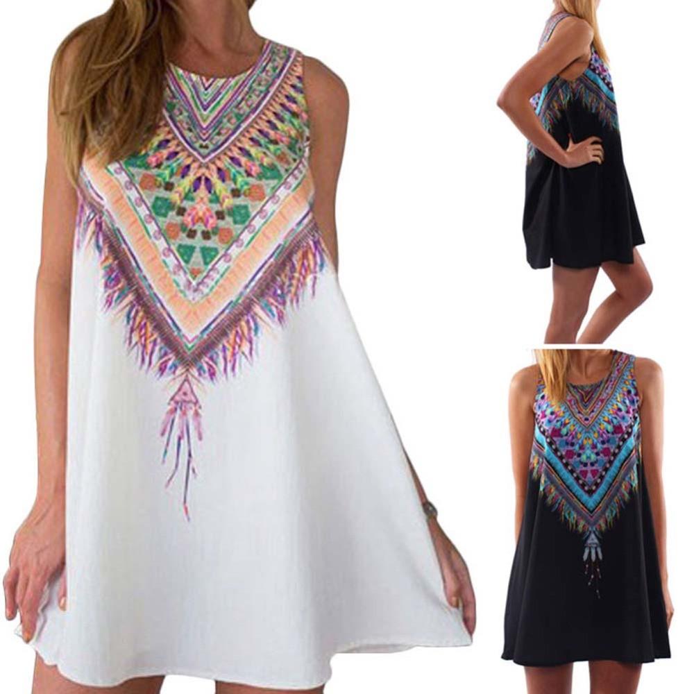 Sleeveless Casual Women Mini Dresses