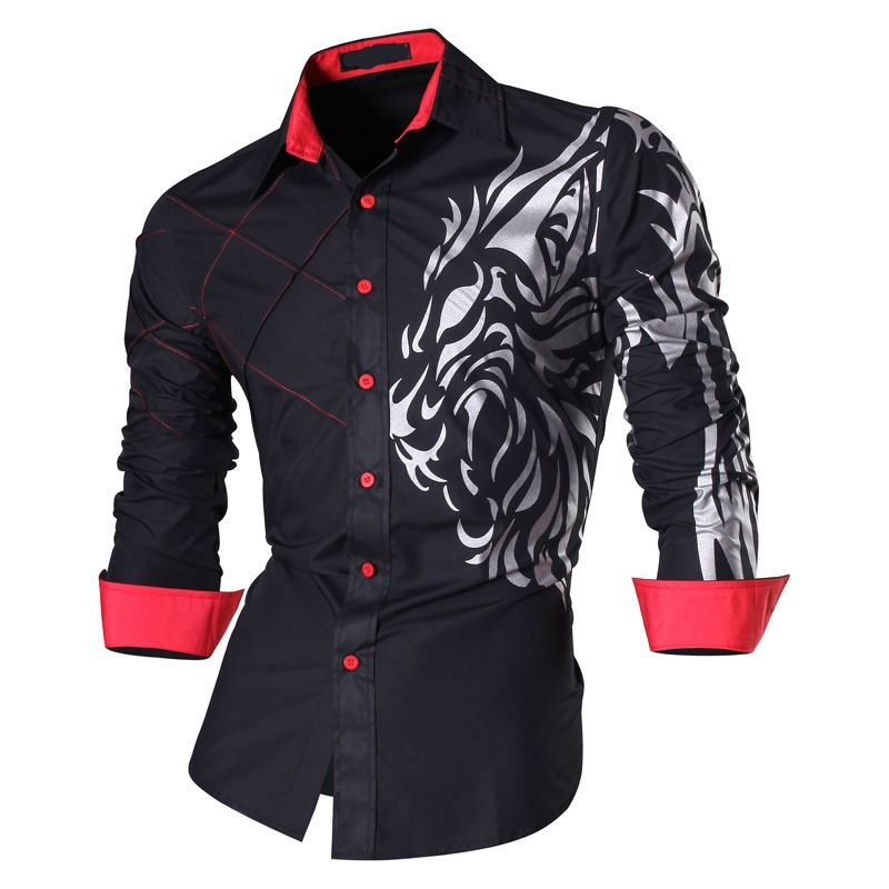 Spring Autumn Features Men Casual Shirts Long Sleeve