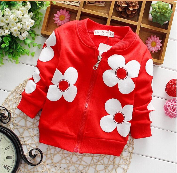Stylish Long Sleeve Floral Baby Girl Jackets