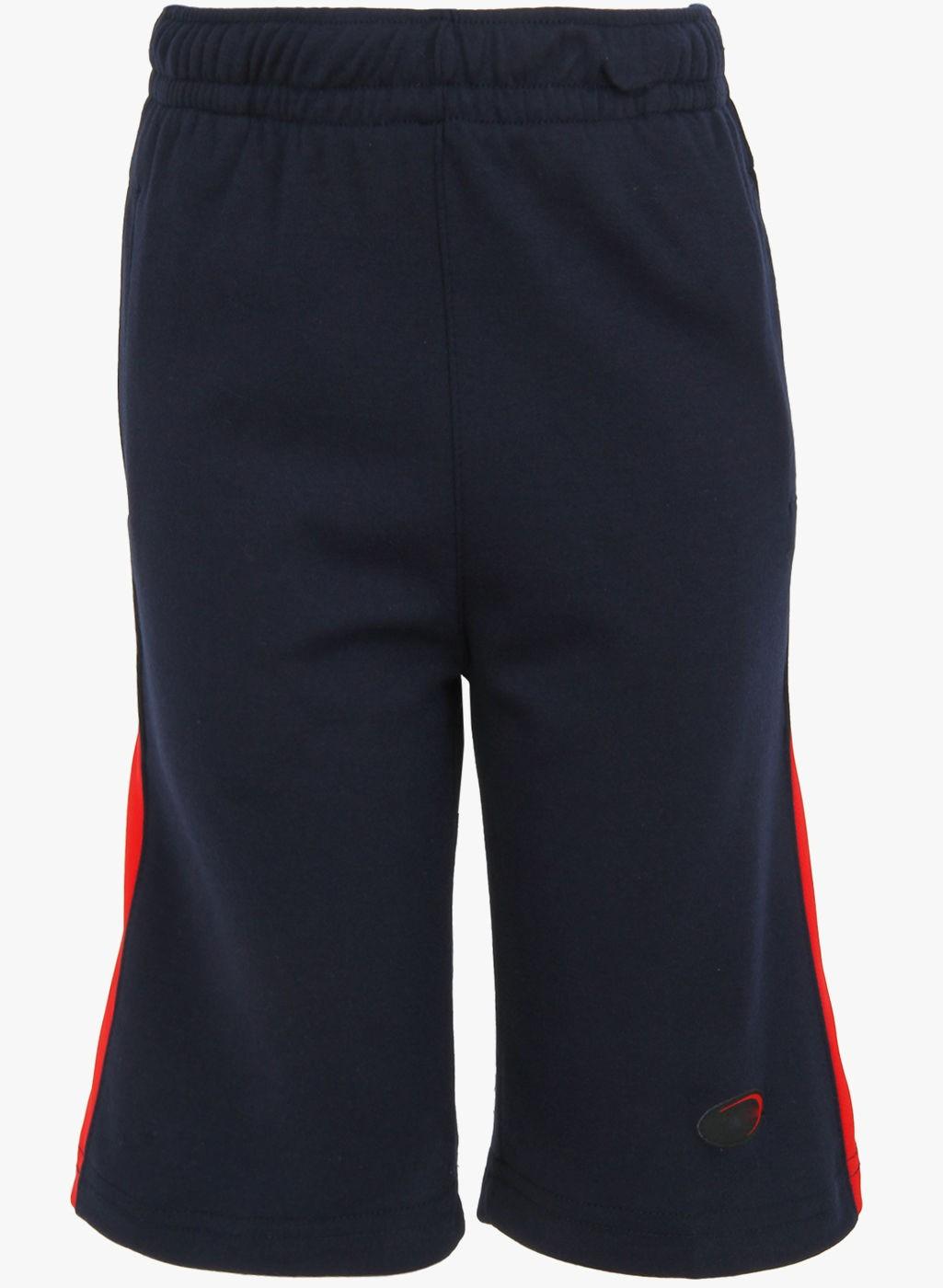 Stylish Navy Blue Knit Short