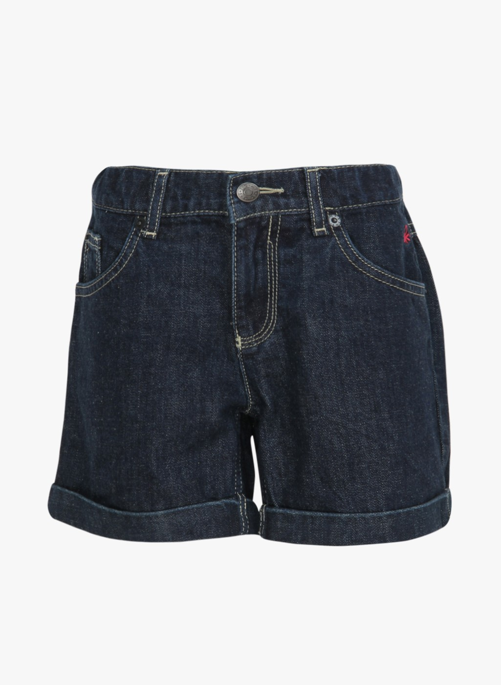 Stylish Regular Fit Dark Blue Cotton Short