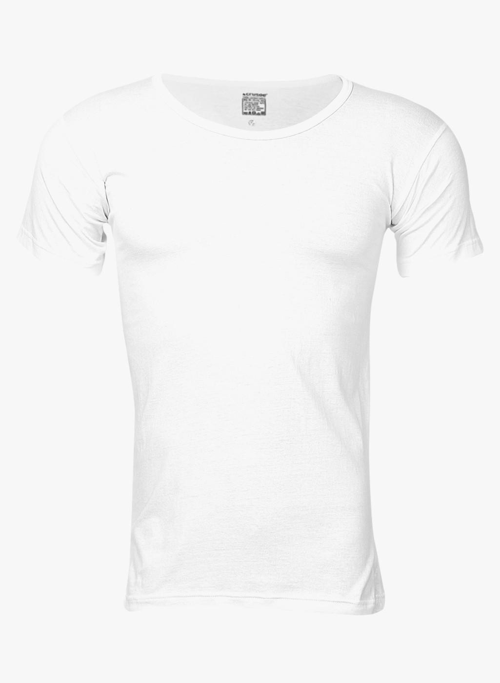 White Round Neck Cotton Vest