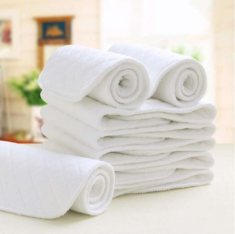 White Soft Cotton 9 Layers Baby Diapers
