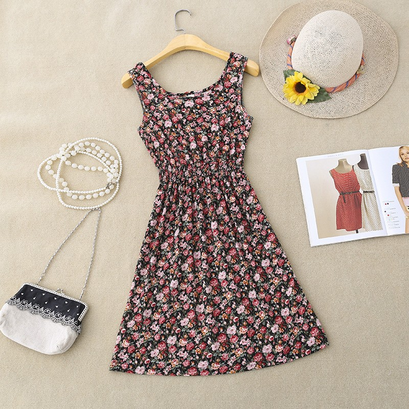 Women Casual Printed Elasticity Dresses