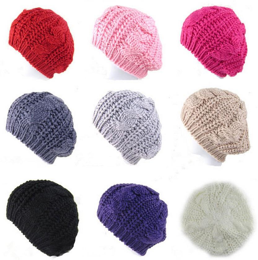 Women Crochet Warm Winter Knitted Caps