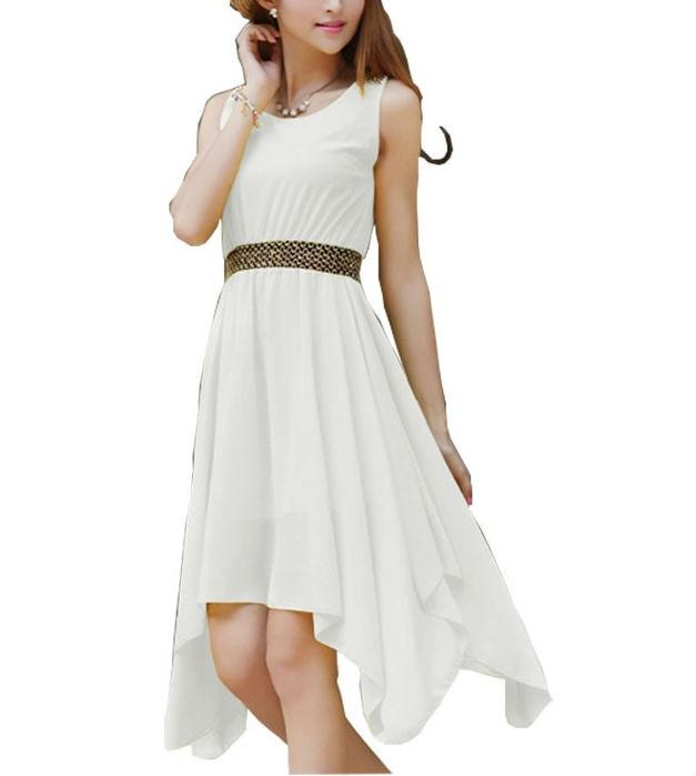 Women Sleeveless Chiffon Long Dresses