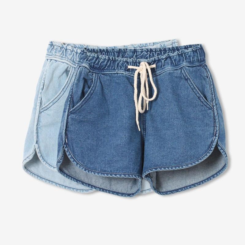 Women Slim High Waist Denim Casual Shorts