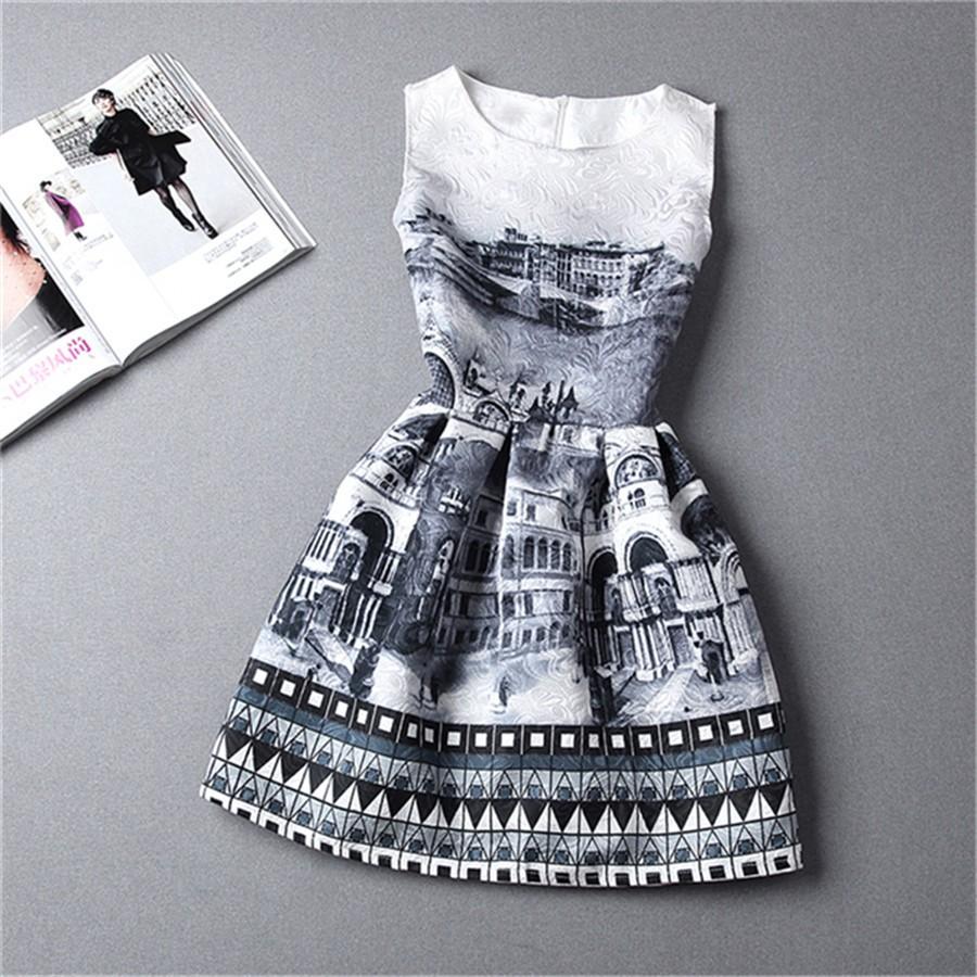 Womens Bodycon Sleeveless Casual Floral Mini Dresses