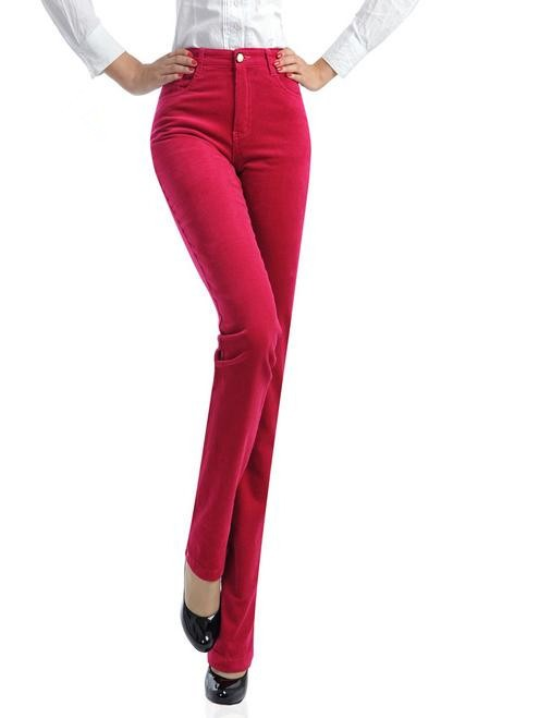 Womens Casual Straight Trousers