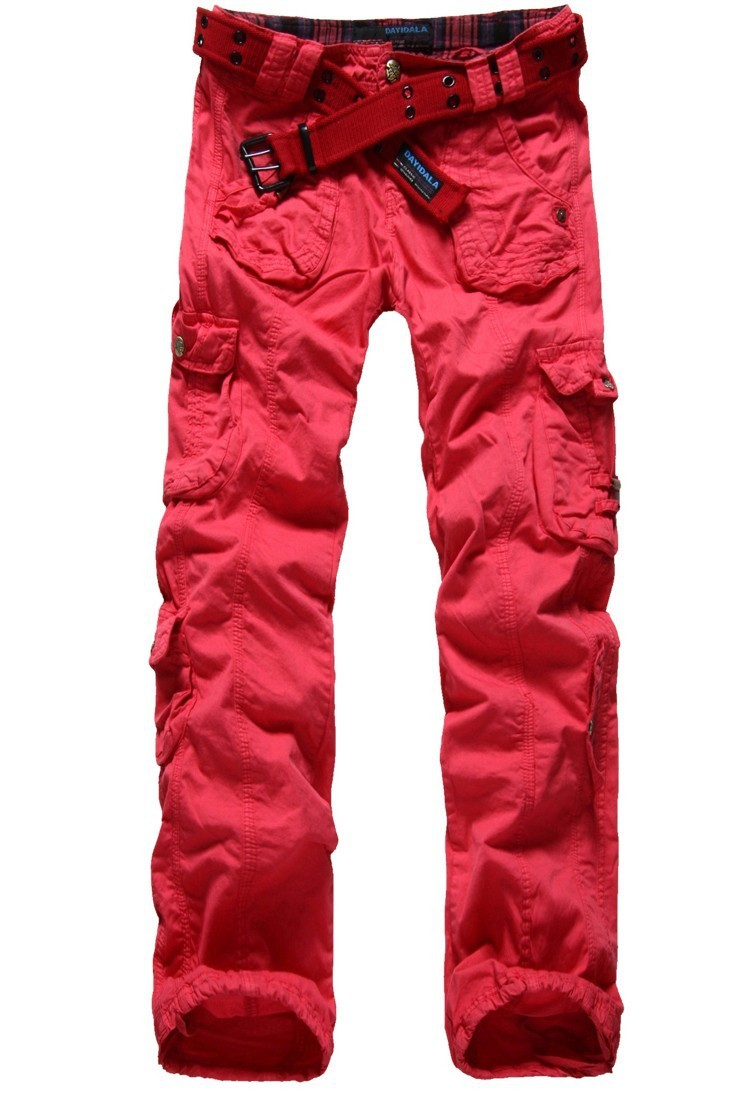 Womens Fashion Multi-pockets Cargo Trousers