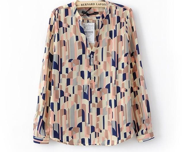 Womens Long Sleeve Chiffon Shirts