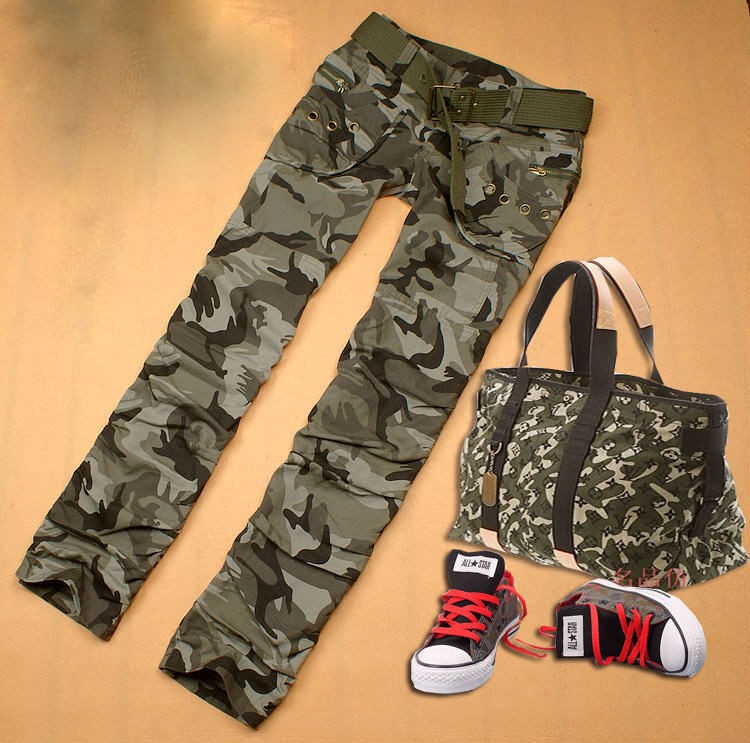 Womens Military Casual Long Cargo