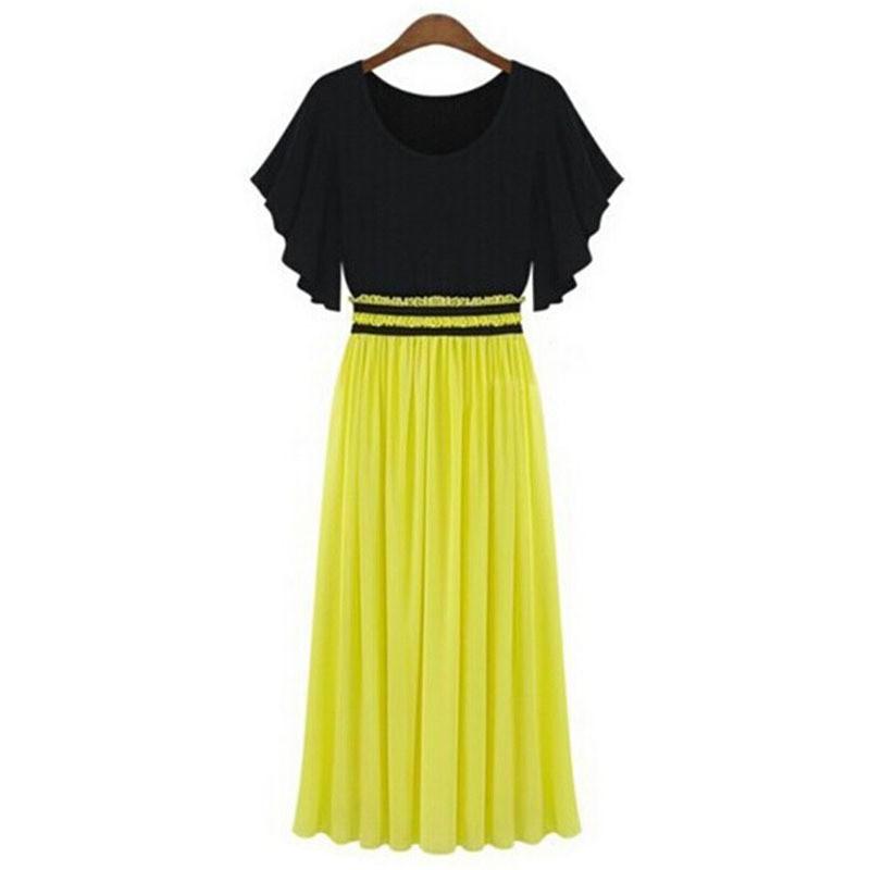 Womens Plus Sizes Long Slim Waist Dresses