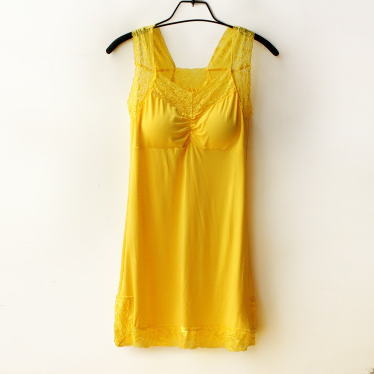 Womens Solid V-Neck Sleeveless Nightwears