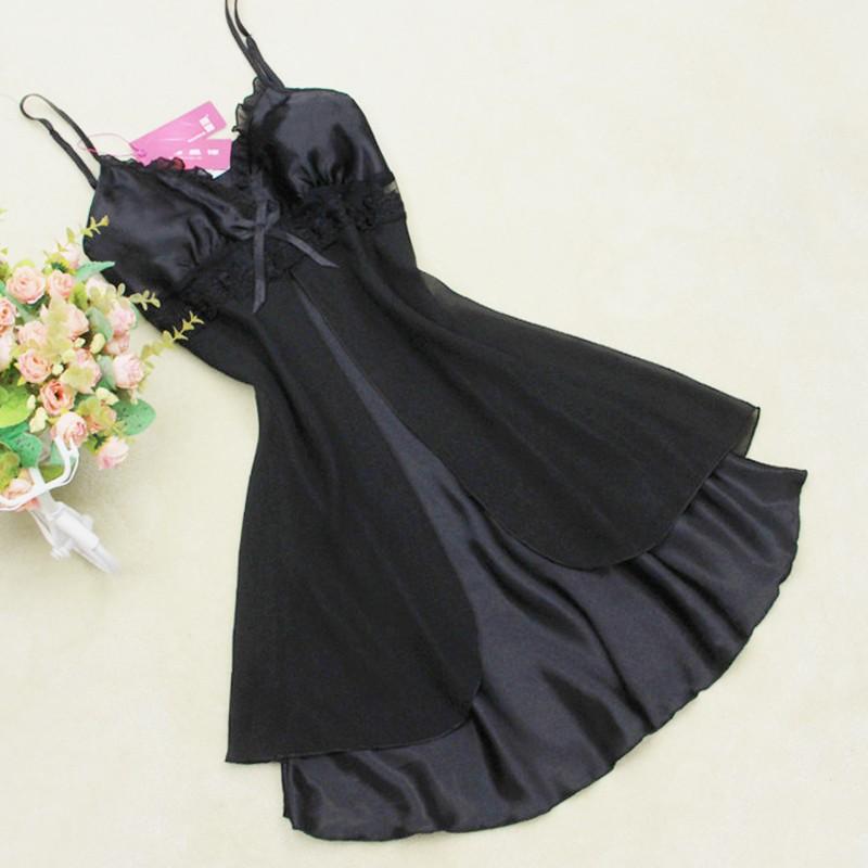 Womens V-neck Faux Silk Nightwears