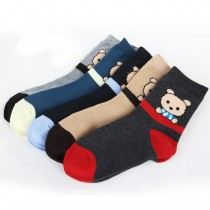 100% Cotton Cute Cartoon Boy And Girl Socks