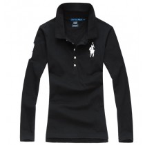 100% Cotton Long Sleeve Women Polo Tshirts