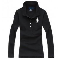 100% Cotton Long Sleeve Women Polo Tshirts