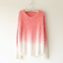 100% Fluffy Wool Loose Winter Women Pullovers