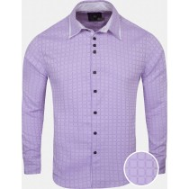 Purple And White Check Cotton Shirt