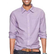Casual Cotton Lilac Plain shirt