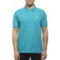 Aqua Cotton Blend Classic Polo Tshirt