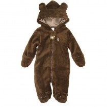Baby Boy Hooded Cotton Rompers Set