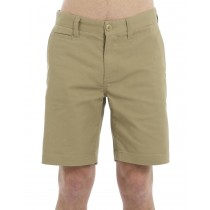 Beige Colored Classic Cotton Short