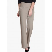 Beige Colored Regular Fit  Formal Trouser
