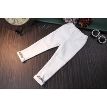 Black And White Skinny Fit Girl Trousers
