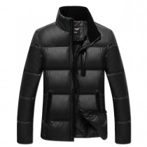 Black Cotton Warm Long Sleeves Jacket