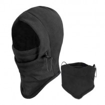 Black Face Mask Fleece Women Thermal