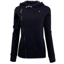 Black Slim Fit Women Winter Jacket
