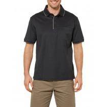 Black Sport Style Short Sleeve Polo Tshirt