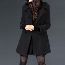 Black Women Casual Fashion Long Jacket
