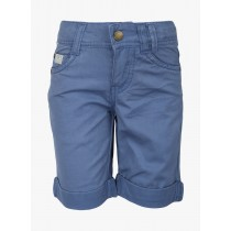 Blue Colored Regular Fit Solid Shorts
