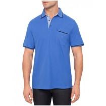 Blue Short Sleeve Cotton Polo Tshirt