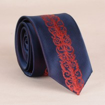 Blue With Black Designer Mens Casual Tie
