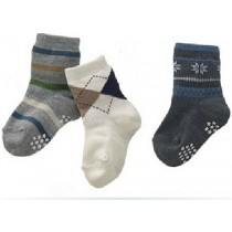 Boys Cotton Striped Socks Set of 3 Pcs