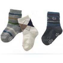 Boys Cotton Striped Socks Set of 3 Pcs