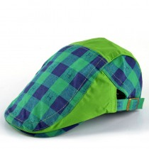 Boys Latest Plaid Pattern Cotton Caps  1